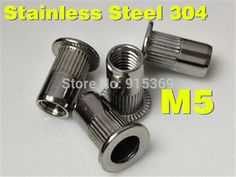 400 pcs stainless rivet nut Kit Aluminium M3 M4 M5 M6 M8 Alu stainless 304 Rivet Nut kits ss insert nut Aluminium  rivet nut kit