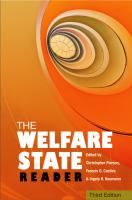 """The welfare state reader"" edited by Christopher Pierson, Francis G. Castles and Ingela K. Naumann. [3rd edition]. Classmark: 50.1.PIE.9a"