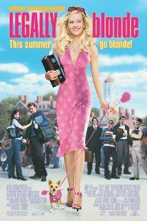 """LEGALLY BLONDE: """"Elle Woods (Reese Witherspoon) ne se contente pas d'être une vraie blonde au sourire éclatant et au look d'enfer. Élève surdouée, elle préside avec brio une association étudiante à l'université de Californie et a tous les atouts pour réussir dans la vie...""""--Wikipédia. ___________________________ When a blonde sorority queen is dumped by her boyfriend, she decides to follow him to law school to get him back ... ___________________________ COTE / CALL # FTX Réserve DVD70105"""