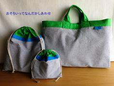 しましま(ボーダー)と水玉(ドット)がいっぱいなハンドメイドのお店です。子どもの通園、通学グッズをリネンや麻などナチュラル素材で作ります。 Patchwork Bags, School Bags, Textile Art, Bag Storage, Activities For Kids, Sewing Projects, Pouch, Reusable Tote Bags, Textiles