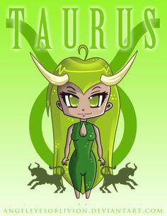 Zodiac Signs Art taurus   zodiac chibi taurus by neko cosmickitty manga anime digital media ...