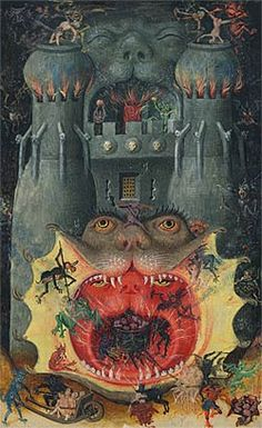 Mouth of Hell (detail) Book of Hours of Catherine of Cleves, Utrecht, ca. 1440, the Morgan Library