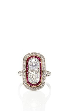 Vintage Art Deco Ruby And Diamond Ring, ca. 1920