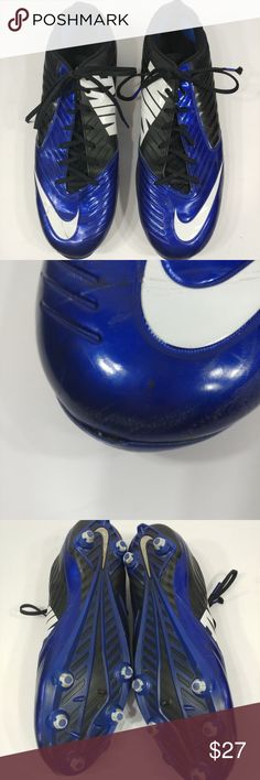 nike mens vapor speed low size 16 cleats blue nike mens vapor speed low size 16 cleats blue and black athletic shoes gently used see pictures for condition Nike Shoes Athletic Shoes