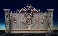 Ворота №11 Gate Wall Design, Grill Gate Design, House Main Gates Design, House Fence Design, Steel Gate Design, Front Gate Design, Window Grill Design, Door Design, Simple Gate Designs