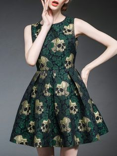 Embroided Lady Mini Dress
