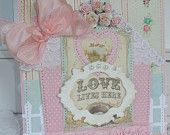 Love Lives Here Shabby Chic House Card