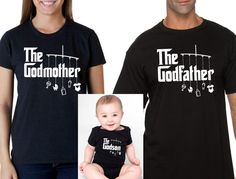 godmother shirt godfather shirt goddaughter onesie or