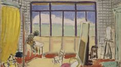 """Palmen im Mittelpunkt: Das Gemälde """"Im Atelier in Nizza"""" von Henri Matisse zeigt…"""