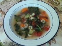 Low fat minestrone soup