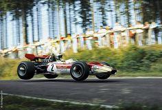 Jochen Rindt // Flugplatz corner at the Nürburgring // 1969