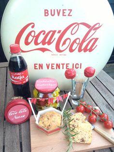 Coca-Cola-Nüsse, eingelegten Ziegenkäse, mediteranen Cake und Coca-Cola-CakePops