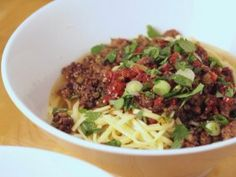 If you've never had Dan Dan noodles, you absolutely must try this recipe. Spicy, flavorful, sublime!