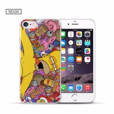 FUNDA CARCASA PARA IPHONE 6 HOMER COMIENDO MANZANA FILM DE