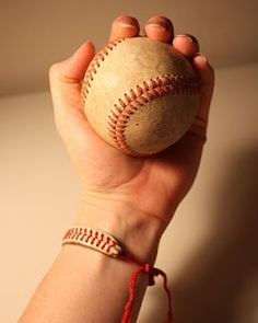 A cute bracelet to wear to baseball games!