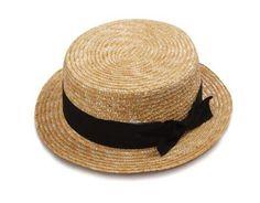 panama for girls women vintage straw black boater - $7.37 each