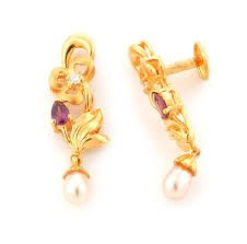 Image result for pearl earrings gold