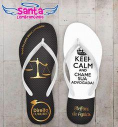 Chinelo Formatura Direito, Keep Calm COD 3538