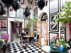 Patio interior de la casa del interiorista Gaspar Sobrino