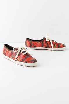 Anthropologie Embroidered Ikat Sneakers