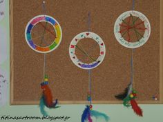 Titina's Art Room | dreamcatcher with paper plate