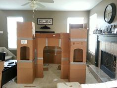 Princess castle cardboard | Crafty Goodness | Pinterest