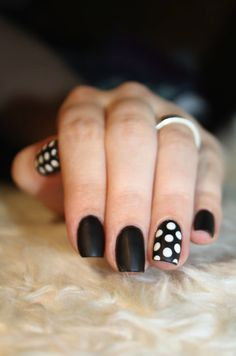Black & White Polka Dots