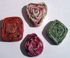 How To Make Fancy Paper Napkin Coiled Pendants Lesson 3