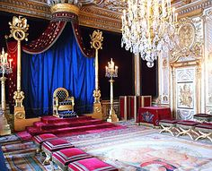 Napoleon's throne room at the Palace of Fontainebleau