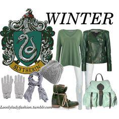 """""""Slytherin Seasons - Winter"""" by sad-samantha on Polyvore"""