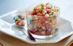 Take advantage of ripe melon to create this refreshing fruit salsa with subtle heat from a hint of jalapeño. Serve atop grilled meats or tos...