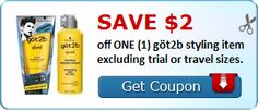 New Coupon!  SAVE $2.00 off ONE (1) göt2b styling item excluding trial or travel sizes.! - http://www.stacyssavings.com/new-coupon-save-2-00-off-one-1-got2b-styling-item-excluding-trial-or-travel-sizes/