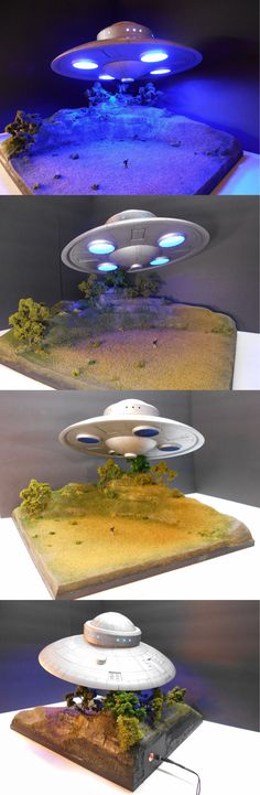 Buildings Tunnels and Bridges 117369: Ufo Diorama Built Model With Lights Ho Scale, Large And Heavy Display, 17X17x13 -> BUY IT NOW ONLY: $2400 on eBay!