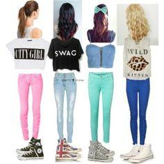 tops,jeans y converse