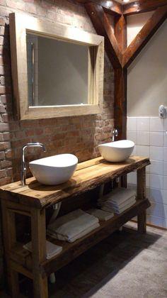Comment fabriquer un meuble lavabo en bois? | Bricolage | Bathroom ...