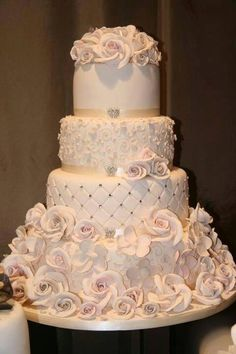Wedding cake @Bailey Francine Buchanan with a temple cake topper maybe? if they have one...imagine a temple topper on all these cakes