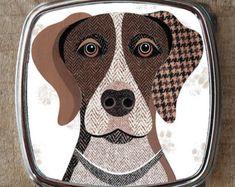 Dachshund dog compact mirror by SimonHartArtist on Etsy