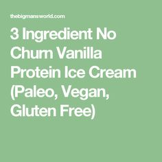 3 Ingredient No Churn Vanilla Protein Ice Cream (Paleo, Vegan, Gluten Free)