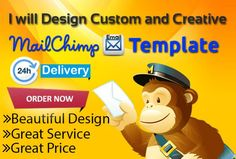 For only $5, I will design BEAUTIFUL Looking Mailchimp Template.   Hello Client. I am Ariel form US(California).I am expert MAILCHIMP templatedesign.I have 3 yearexperiencein MailchimpTemplatedesign.My all Design Will be Spam Free so Your customer Get   On Fiverr.com