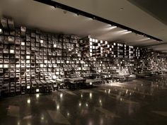 Wuhan Pixel Box Cinema  by One Plus Partnership Limited  As pixels are the technological basis of all films, it's fitting that a cinema in Wuhan, China, is filled with the square shape