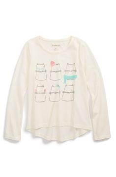 Tucker + Tate Long Sleeve Graphic Top (Toddler Girls, Little Girls & Big Girls)