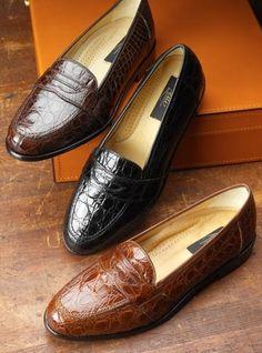 Crocodile Penny Loafers... Wonderful !!!
