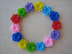 14PCS  Rainbow Mix   Color Me Happy  Rose Flower by ZARDENIA, $7.00
