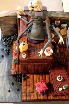 Kamaji from Spirited Away. | 33 Studio Ghibli Cakes That Are Guaranteed To Blow You Away