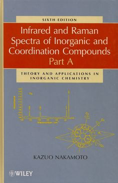 NAKAMOTO, Kazuo. Infrared and Raman spectra of inorganic and coordination compounds: part A: theory and applications in inorganic chemistry. 6 ed. Hoboken: John Wiley & Sons, 2009. xi, 419 p. Inclui bibliografia e índice; il. tab. quad. graf.; 24x16cm. ISBN 9780471743392.  Palavras-chave: ESPECTOMETRIA DE RAMAN; ESPECTOMETRIA DE INFRAVERMELHO; QUIMICA.  CDU 543.424 / N163i / 6 ed. / 2009