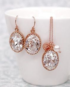 Exquisite and intricately handcrafted pieces that include bridal fashion jewelry, necklaces, earrings, bracelets, and special sets. Bridesmaid Jewelry Sets, Bridal Jewelry Sets, Wedding Jewelry, Swarovski Crystal Earrings, Crystal Jewelry, Jewelry Gifts, Fine Jewelry, Jewelry Necklaces, Jewelry Ideas