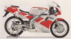 Yamaha TZR250 2nd generation side view.