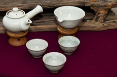Korean tea set. I like the tea pot