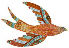 red_turq_bird by icmosaics, via Flickr