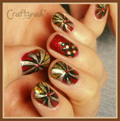 Craftynail christmas #nail #nails #nailart